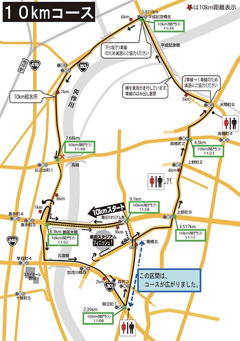 10kmコースマップ