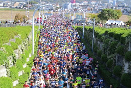 前回豊田マラソン大会の写真